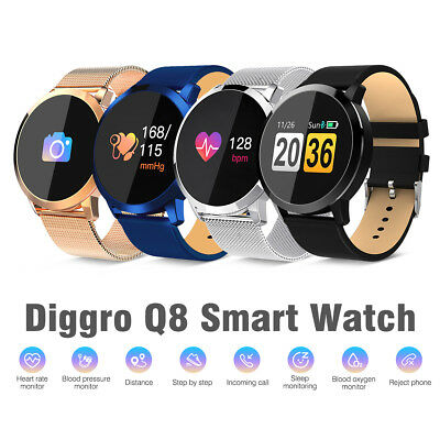 Diggro Q8 Smart Watch OLED Heart Rate Monitor IP67 Pedometer Sport Fitness Watch