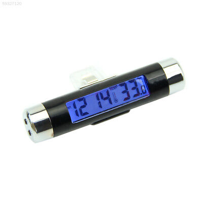 6048 2in1 Car LCD display Clip-on Digital Backlight Thermometer Clock meter
