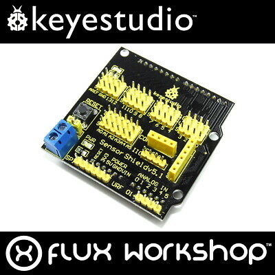 Keyestudio Arduino UNO Sensor Shield KS-004 V5 COM IIC URF Flux Workshop