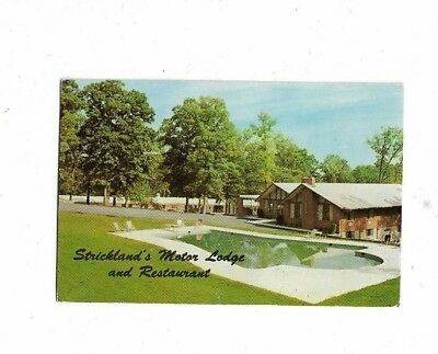 1a - Vintage 1960's Photo Business Card - Strickland's Motor Lodge Baltimore MD