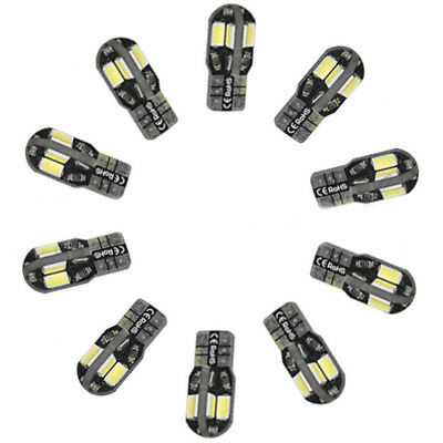 20 x Canbus T10 194 168 W5W 5630 8 LED SMD White Car Side Wedge Lamp Bulb 200lm