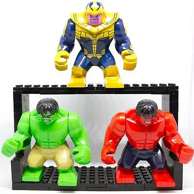 Lego Minifigures Hulk E Thanos Gigante Avengers Super Heroes Marvel Custom Like