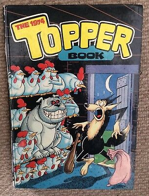 Vintage The Topper Annual 1974 Price Unclipped 50p Net Good Condition.