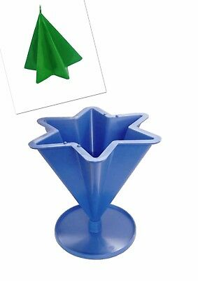 """6 Pointed Tapered Star Shaped Candle Mould with Base 4.3"""" Tall, UK Made. S7615"""