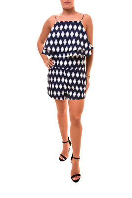 6195438340fe Finders Keepers Women s Move On Up Playsuit Multi Blue Size S RRP  170 BCF85