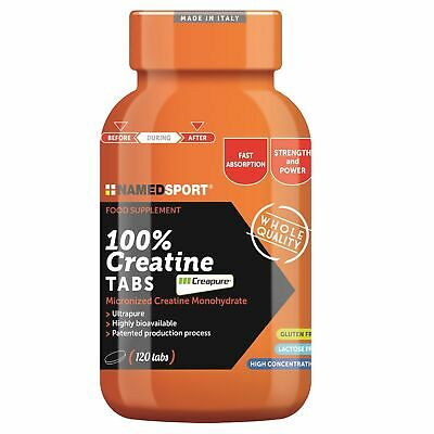 NAMED SPORT 100% Creatine Tabs 120 Pura Creatina Creapure in compresse