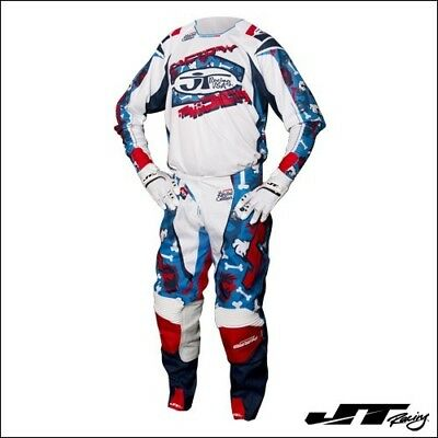 Completo cross JT RACING USA LE BAD BONES Red/White/Blue