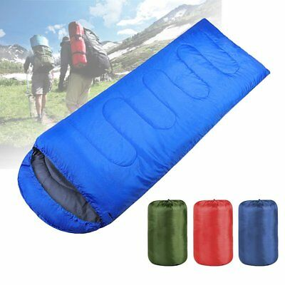 Ultralight Adult Single Envelope Sleeping Bag Camping Hiking with Carrying Bag