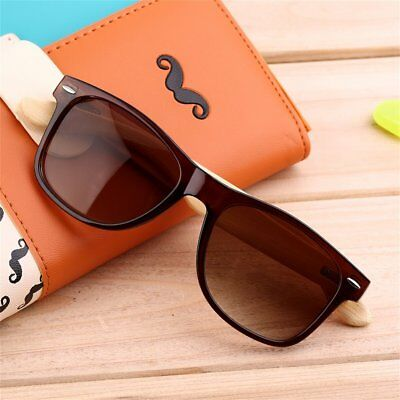 Mens Womens Retro Vintage Summer Glasses Bamboo Sunglasses Wooden Wood AZ