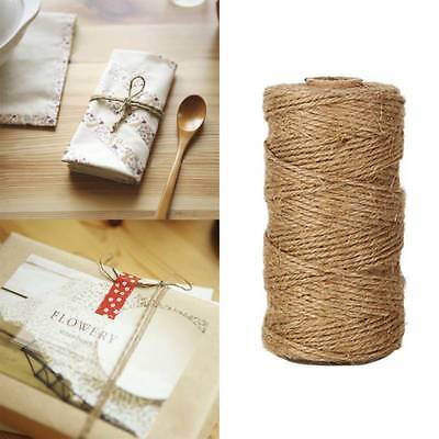 10M Jute Twine Rope Natural Hemp Twisted Burlap String Cord Pack Gift Crafts DIY