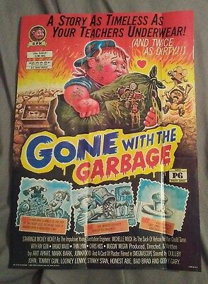 garbage pail kids 1986 poster #15 of 18 (GONE WITH THE GARBAGE)