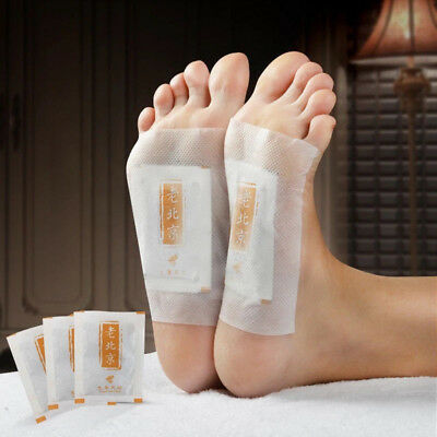 10/50x Ginger Detox Foot Pads Patch Detoxify Toxins Adhesive Health Care DFA