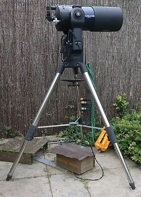 "Meade LX90 8"" SCT telescope, ACF coating  with goto gps + tripod + accessories"