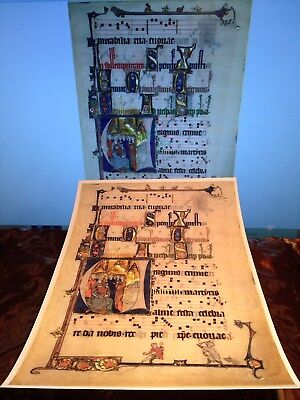 Beaupré Antiphonary- Illuminated Manuscript. Sculptured Board Sheet A4 Print