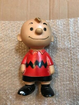 Vintage Vinyl Charlie Brown 1958 Doll Figure United Feature Syndicate 9 1/2 RARE