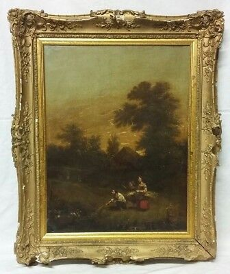 'Country Swans' an Early 19th Century Oil on Canvas Painting Circa 1830 - 1840