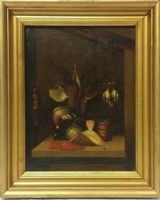 'Dead Game' a 19thc Oil on Panel Painting Attributed to Benjamin Blake - 1 of 2