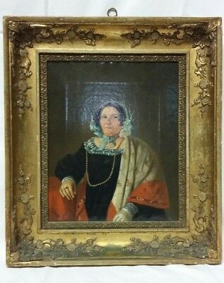 19thc Oil Portrait Painting of a 'Society Lady' Signed J W Wallander (2 of 2)