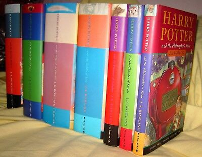 HARRY POTTER x 7 J K ROWLING COMPLETE SET BLOOMSBURY 1ST ED HB DW PHILOSOPHER'S