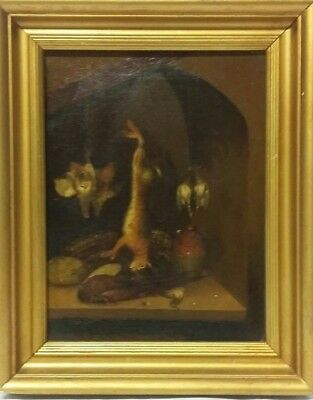 'Dead Game' 19thc Oil on Panel Painting Attributed to Benjamin Blake - 2 of 2