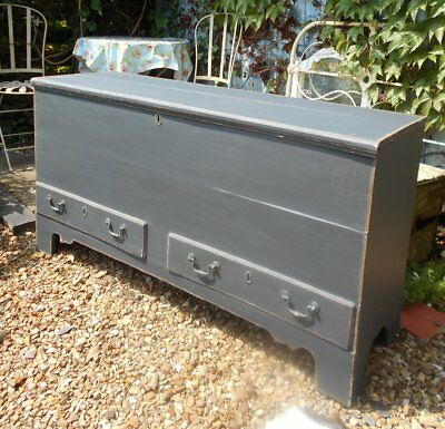 Victorian   Painted / Distressed  Blanket  Box / Coffer