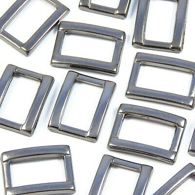 10 mm 1 cm Grey Rectangular Loop for Straps Bag Making Leathercraft (M095)