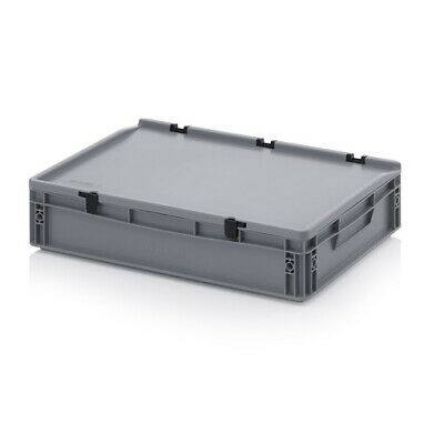 Plastic Box 60x40x12 Storage Box Stacking Crates Campingbox Lid Chest