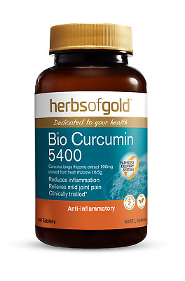 Herbs Of Gold  - Bio Curcumin 5400 - Natural Relief Of Pain And Inflammation