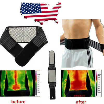 Tourmaline Magnetic Therapy Lower Back Waist Support Belt Backache Heating Self