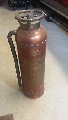 NO 2-C Empire Original Antique Copper Brass Vintage Fire Extinguisher