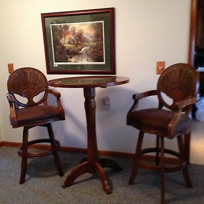 NWTF National Wildlife Turkey Federation Pub 3-Piece Set Table Padded Bar Chair