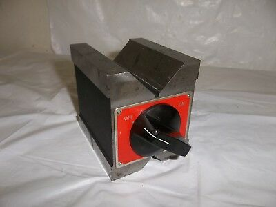 "STARRETT No. 566 DUAL VEE MAGNETIC V-BLOCK 1 ¾""/44mm CAPACITY I Machinist Tool"