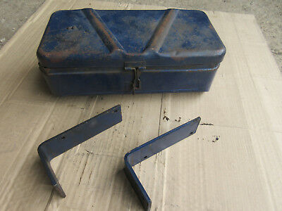 Genuine Original Nuffield Or Leyland Tool Box - With 'l' Brackets