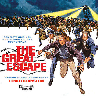 The Great Escape - 3 x CD Complete Score - Limited Edition - Elmer Bernstein