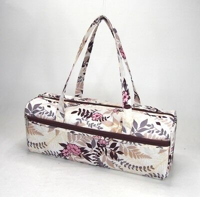 Knitting Bag Wool / Yarn / Craft Storage Bag Pretty Floral Design Fully Lined