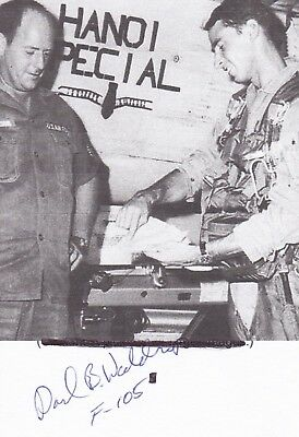 Vietnam Pilot With 2 Mig Kills And 3 Silver Stars, Great Signed Image.