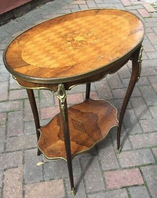 19th Century French Parquetry And Marquetry Occasional Table Gilt Bronze Mounts