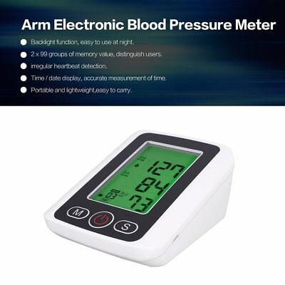 Arm Electronic Blood Pressure Meter LCD Monitor Heart Rate Pulse Measuring QIQ