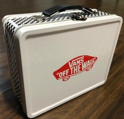 Vans Off The Wall White & Black Checkerboard Lunch Box New