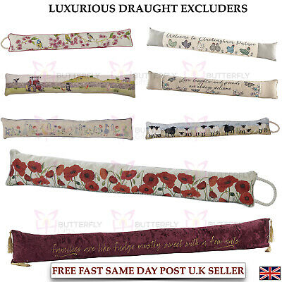 Tapestry Door Window Draught Excluder Fabric Cushion Various Designs Large New