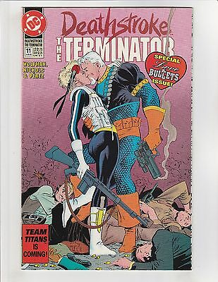 Deathstroke The Terminator (1991) #11 NM- 9.2 DC Comics Vigilante app.