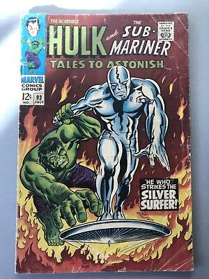 Tales To Astonish 93. Hulk vs Silver Surfer