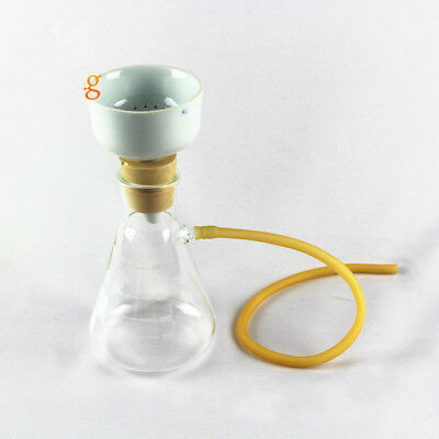 1000ml Suction Filtration Kit Buchner Funnel + Erlenmeyer Flask Vacuum Suction