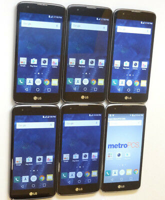 Lot of 6 LG K7 Smartphones 5 T-Mobile & 1 MetroPCS Unlocked AS-IS Parts GSM