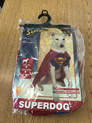 Pet Superman Costume Rubies Superdog Large 18-20 inches