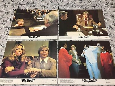 Oh God 1977 Original Issue 8x10 Lobby Cards Set Of 4 Burns Denver Garr