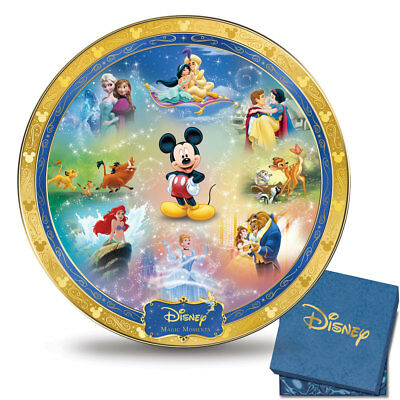 Disney Magic Moments Heirloom Porcelain Collector Plate by The Bradford Exchange