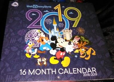 Walt Disney World 2018 - 2019 16 Month Photo Calendar NEW