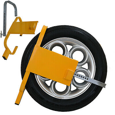 Wheel Clamp Lock Caravan Trailers SUV Car Heavy Duty High Security Anti Theft