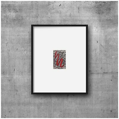 aceo original art, black and white drawing, miniature, abstract, zen doodle
